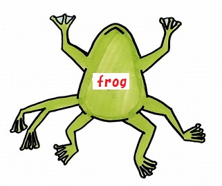 Frog with seven legs.